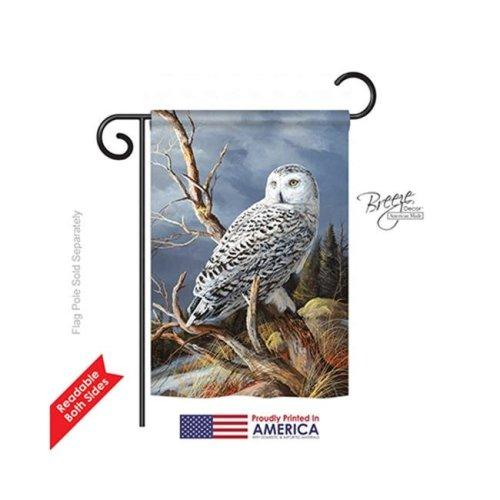 Breeze Decor 55051 Birds Superior Vantage Owl 2-Sided Impression Garden Flag - 13 x 18.5 in.