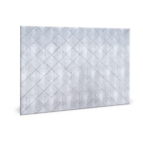 Profhome 3D 704546 Criss Crosshatch Silver Decor panel 3D shiny silver 1,7 m2