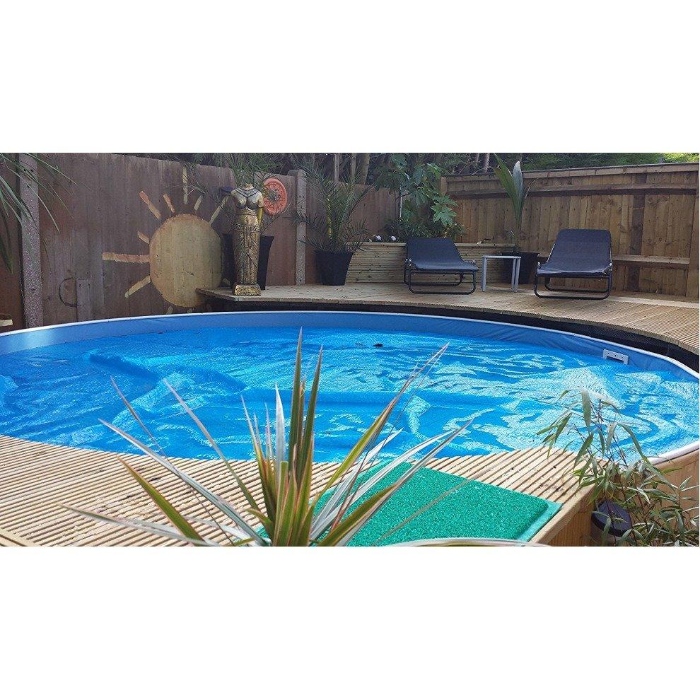 aqua world lagoon pool 12 x 3ft steel free standing pool. Black Bedroom Furniture Sets. Home Design Ideas