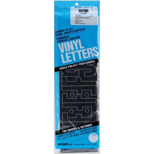 """Permanent Adhesive Vinyl Letters 4"""" 95/Pkg-Black"""