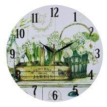 Home Decoration 34cm MDF Bienvenue Dans Mon Jardin Scene Wall Clock