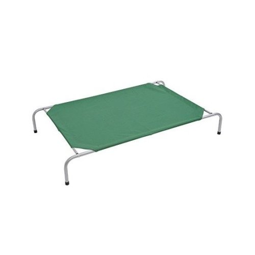 PawHut Green Raised Dog Bed | Elevated Dog Cot