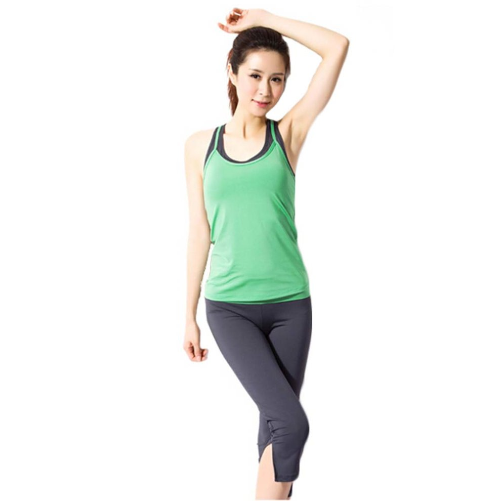 2624fb7fc5eb Green Sexy Yoga Apparel Sexy Yoga Pant Gym Clothes Dance Outfit Fitness  Suit on OnBuy