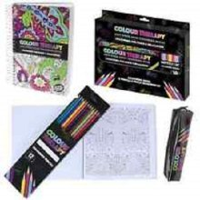 Colours Therapy Pencil Case Complete With 10 Pencils And Sharpener. - 64120 -  64120 page adult colouring therapy antistress book relaxation calm