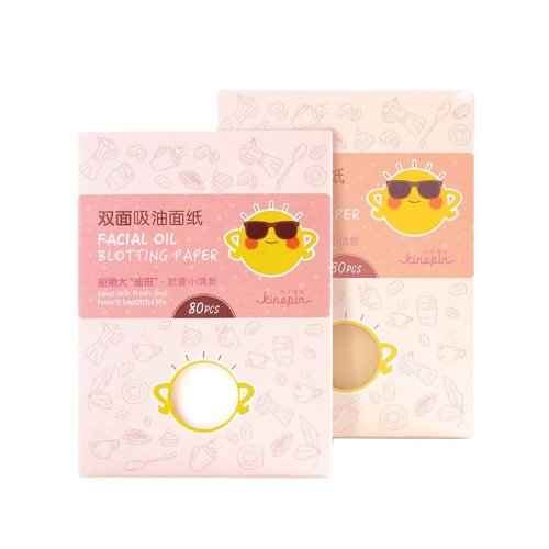 Portable Natural Double-sided Facial Oil Blotting Paper 320 Sheets, Lovely Pink
