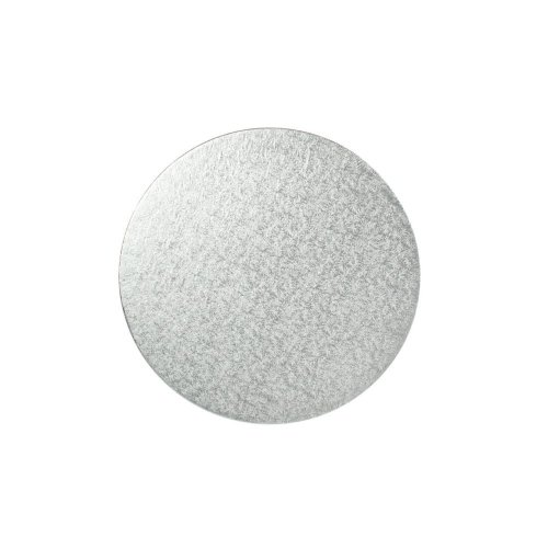 "5"" Thin Silver Round Cake Board 3mm Thick"