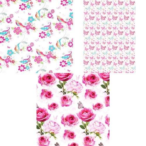 Simon Elvin 24 Sheets Traditional Female Gift Wraps
