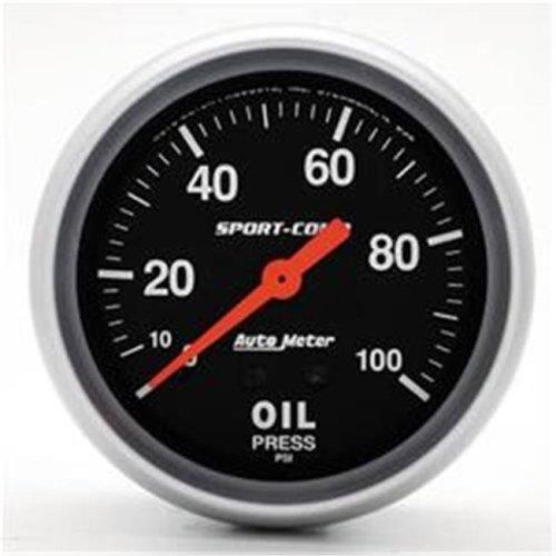 AUTO METER 3421 Sport-Comp Oil Pressure 0-100 Psi