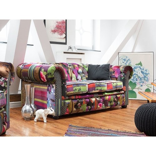Sofa - Chesterfield - Couch - 3 Seater Sofa - Patchwork - CHESTERFIELD