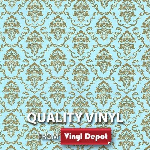 Vinyl Depot Self-Adhesive Sticky Film Baroque Aida Blue/Gold 450mm/m