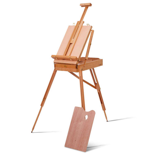 French Easel Wooden Sketch Box Portable