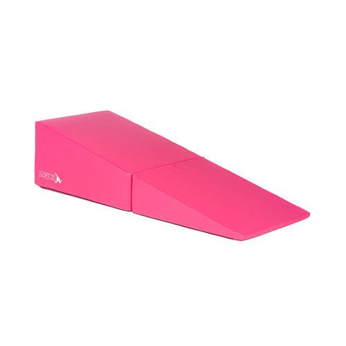 Loft 25 'Aurora' Pink Large Folding Incline Mat Gym Wedge