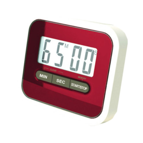 Utility Mini Electronic Digital Timer Kitchen Timer, Wine Red