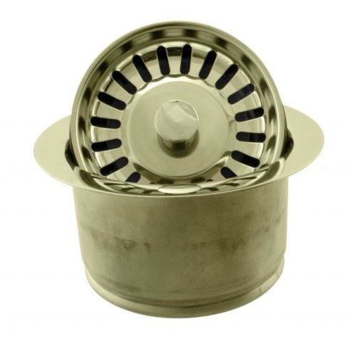 Westbrass D2082S-01 InSinkErator Style Extra-Deep Disposal Flange & Strainer in Polished Brass