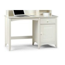Treck White Stone Desk - 1 Door 1 Drawer - Fully Assembled Option Fully Assembled(+23) No Chair No Hutch