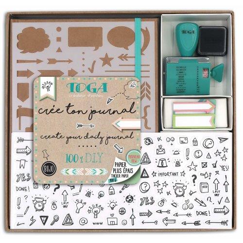 Toga KT74Â Kit Bullet Kraft Journal Notebook 21 5Â x 15 5Â x 1 5Â cm