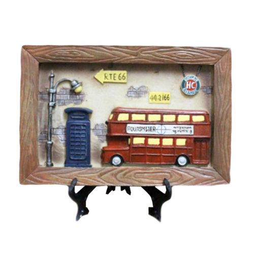 Wooden Frames Red Bus Photo/Album Frame/ Nursery Picture Frames