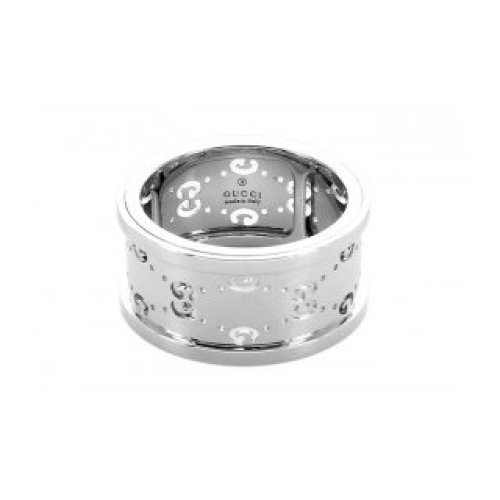 GUCCI RING ICON TWIRL GG 18KT WHITE GOLD MEASUREMENT 11 201985 J8500 9000