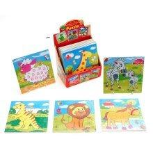 Wooden Zebra Jigsaw Puzzle - Childrens Kids 9 Piece Tray -  childrens kids 9 piece wooden tray puzzle jigsaw