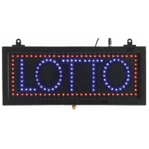 AARCO Products LOT04S Small Led Sign Lotto