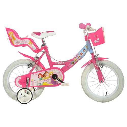 Dino Disney Princess Pink Girls Bike Doll Carrier