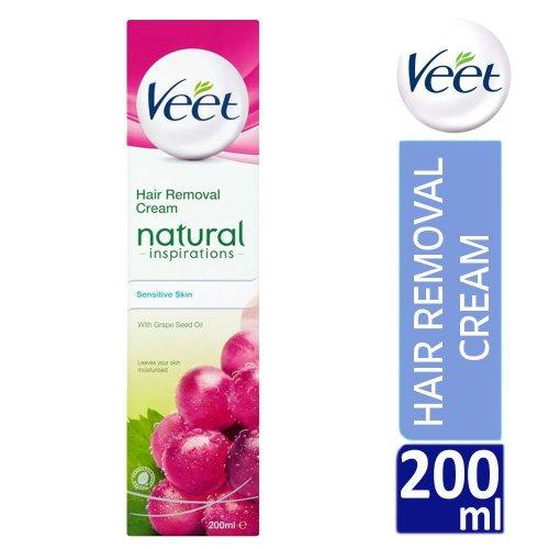 Veet Natural Inspirations Hair Removal Cream 200ml For Sensitive Skin