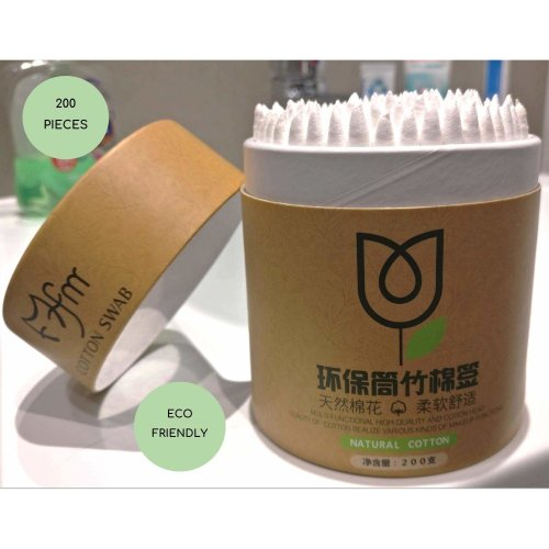 Maxxi Cotton Swab Buds Bamboo Ecological and Easy Bio degradable Baby Hygiene Personal Daily Care Eco Box 200 Pieces