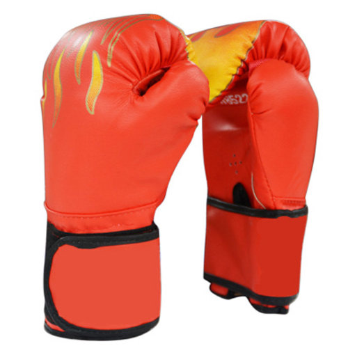 Training Gloves PU Leather Pro Boxing Gloves,Red