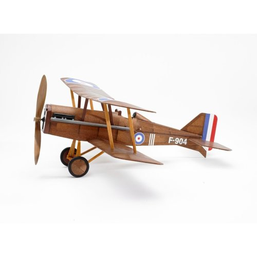 RAF SE5a WWI Bi-plane model airplane complete vintage model rubber-powered balsa wood aircraft kit that really flies!