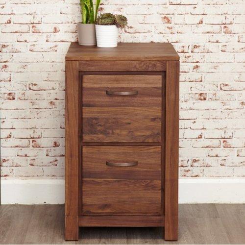 Mayan Walnut Furniture Two Drawer Filing Cabinet