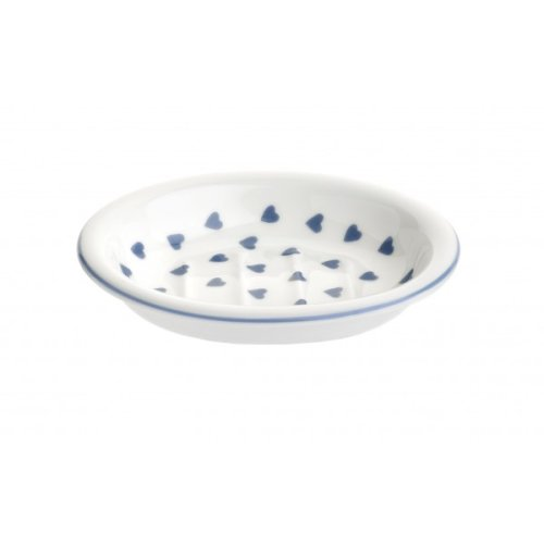 Nina Campbell Blue Hearts Design Soap Dish