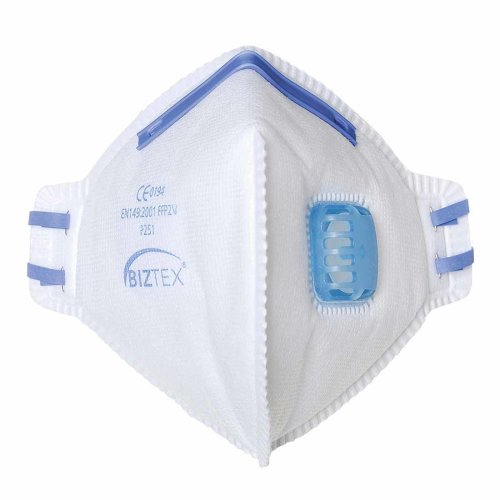 sUw - Pack of 20 FFP2 Fold Flat Flexible Respirators With Exhalation Valves