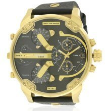 Diesel Mr. Daddy 2.0 Two-Tone and Leather Mens Watch DZ7371
