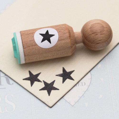 Star Very Mini Rubber Stamp - Craft / Scrapbooking / Wedding / Teacher