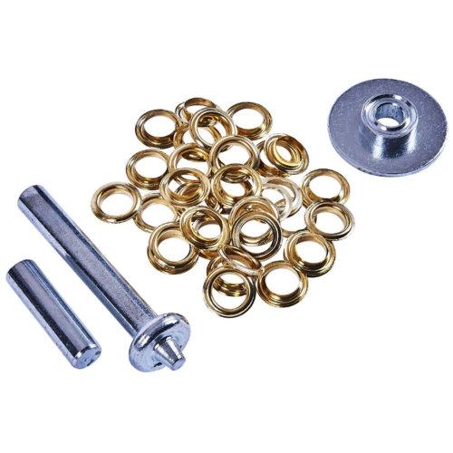 Tarpaulin Repair Kit Tarp Awning Groundsheet Eyelet Grommets Inc Tool Amtech S4675