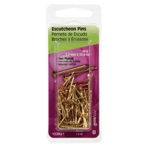 Hillman 5123831 1 x 18 in. Brass Plated Escutcheon Pins