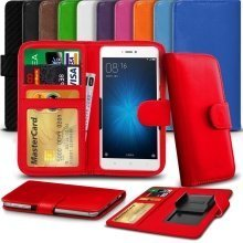 """iTronixs - Archos 55b Platinum (5.5"""") High Quality Clamp Style PU Leather Wallet Case Cover"""