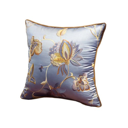 Chinese Style Classical Flowers Embroidered Decorative Pillows Sofa Pillow Cover, #13