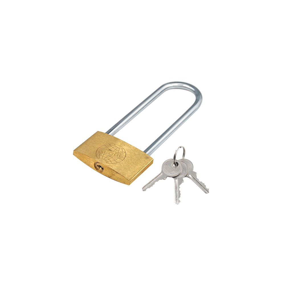 TRIXES Extra Long Shackle Padlock 120mm Long Lock 3 Keys safe Garage
