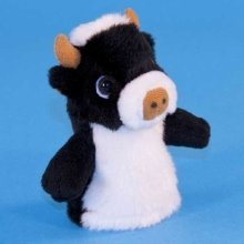 Dowman Cow Finger Puppet Soft Toy