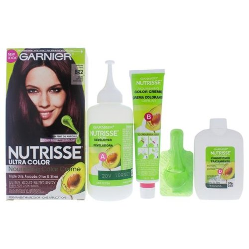 Garnier I0091818 Nutrisse Nourishing Color Creme for Unisex - BR2 Dark Intense Burgundy