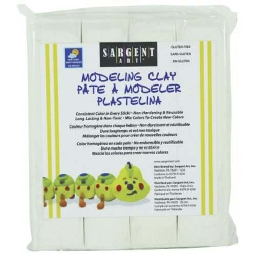 Sargent Art 1488899 Non-Toxic Modeling Clay - 1 lbs, White