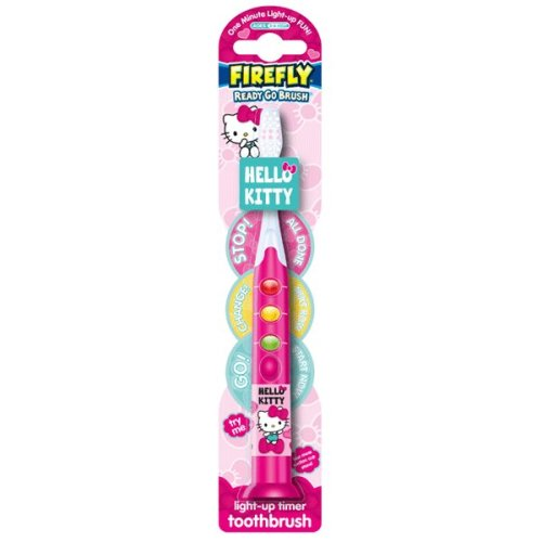 Firefly Hello Kitty 'Ready Go' Flashing Toothbrush (Green/Amber/Red Lights)