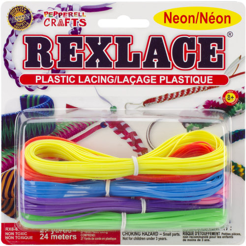 Rexlace Plastic Lacing 27yd-Neon