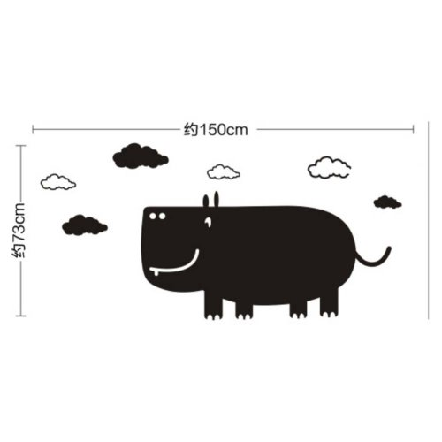 Rhinoceros Chalkboard Wallpaper Blackboard For Kids