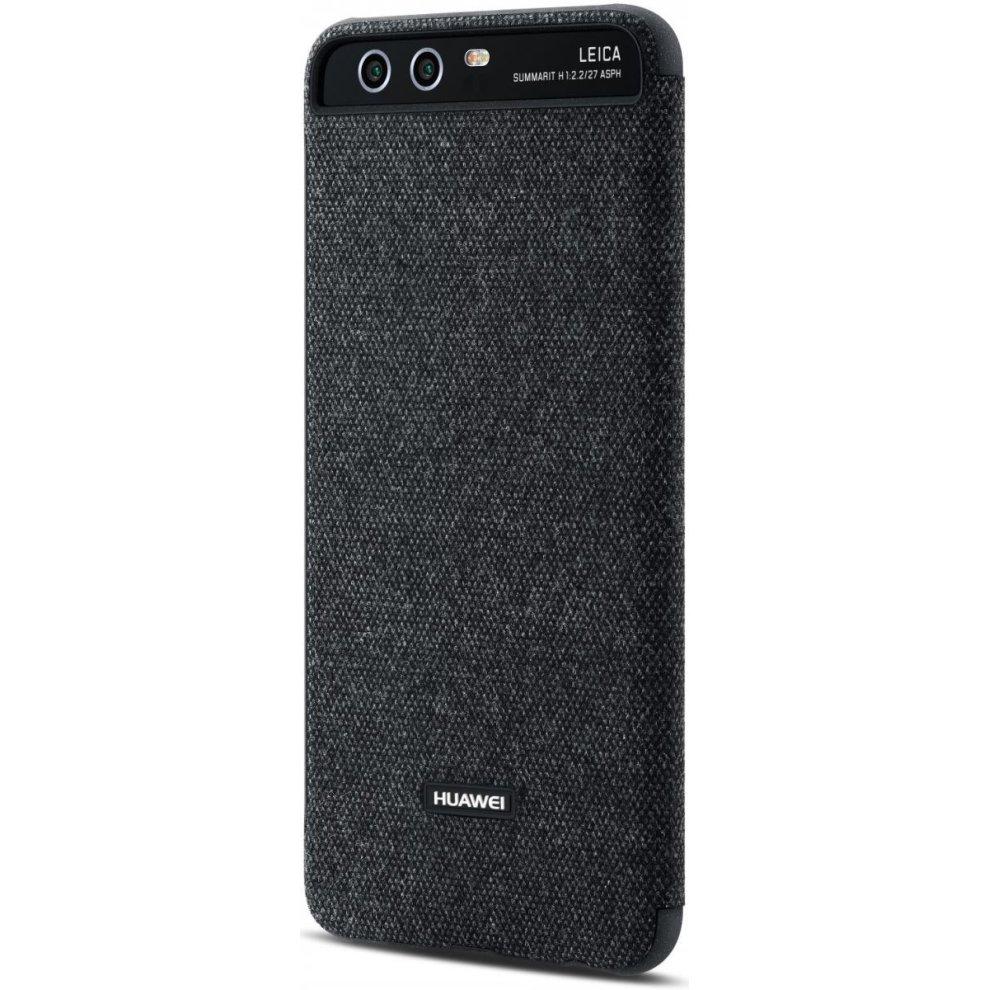 sale retailer 95023 a2a48 Original Official Huawei P10 Smart View Flip Cover Case - Dark Grey