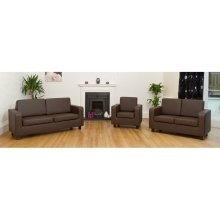 Tanya Tub Sofa 3 Seater Pvc Faux Leather