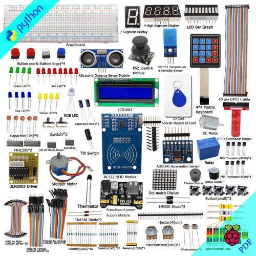 Adeept RFID Starter Kit for Raspberry Pi 3, 2 Model B/B+, Stepper Motor