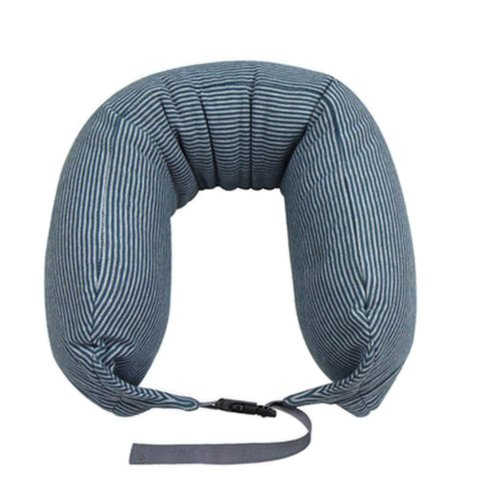 U-Shaped Neck Pillow Travel Pillow Sofa Cushion Pillow for Nap Blue&Grey