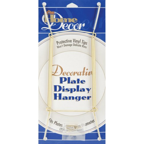 "Decorative Plate Display Hanger Expandable 10"" To 14""-Gold Tone"
